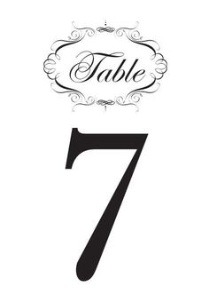 free printable wedding table numbers choose from tons of designs