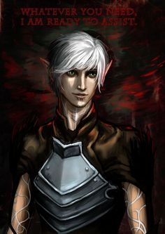 Fenris is always willing to lend a helping hand... unless mages are involved. Dragon Age 2. ~Fenris by Janiko-neko-chan