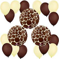 Giraffe Print - Birthday Party Balloon Kit | BigDotOfHappiness.com $9.99