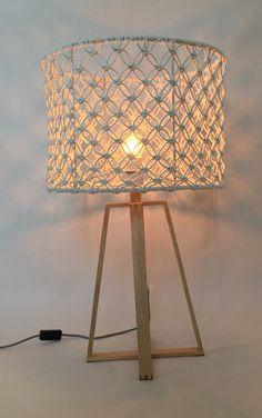Afbeeldingsresultaat voor lampenkap macrame