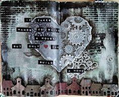 JIJI Cards - Art Journal Page 13: Home #steampunk