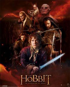 Hobbit: Pustkowie Smauga (Fire Montage) - plakat - 40x50 cm  Gdzie kupić? www.eplakaty.pl