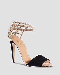 "Gucci Sandal - Michelle Crystal Cage PRICE: $1,150.00 ML: ""They're calling my name...literally."""