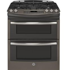 "GE Profile™ Series 30"" Slide-In Double Oven Gas Range PGS950EEFES"