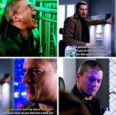 Snart iced off his hand and Gideon, starts the regeneration process!!#CaptainCold❄️#LegendsofTomorrow #1x09