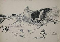 Mount Everest, Mountains, Nature, Travel, Image, Art, Illustrations, Drawings, Art Background