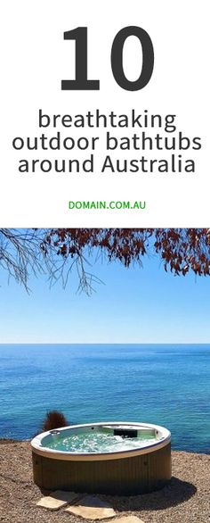 Short-stay homes and boutique accommodations where you can still soak it up in the great outdoors. Outdoor Bathtub, Outdoor Rooms, Outdoor Living, Byron Beach, Kangaroo Island, Relaxing Bath, Plein Air, Australia Travel, Australia