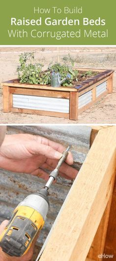 There's nothing better than walking outside and picking the sweet fruits and vegetables from your own garden in your own yard. With this corrugated metal raised garden bed, you get the best of both worlds — the wonderful garden function and a beautiful addition to your yard.  http://www.ehow.com/how_12094688_build-raised-garden-beds-corrugated-metal.html?utm_source=pinterest.com&utm_medium=referral&utm_content=freestyle&utm_campaign=fanpage