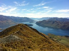 The view from Roy's Peak in Wanaka New Zealand's South Island.