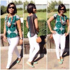 Auntie Nini looks fb in her b'venaj africhiffon top Latest African Fashion Dresses, African Print Dresses, African Print Fashion, Africa Fashion, African Dress, Ankara Tops Blouses, African Blouses, African Tops, African Women