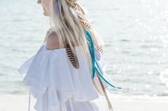 Items similar to Bohemian Rainbow Feather Headband, Bridal headpiece on Etsy Feather Headpiece, Bridal Headpieces, Lilac, Cover Up, Coconut, Bohemian, Rainbow, Trending Outfits, Soles