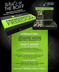 BREAKING NEWS: Now when you join the It Works Global family your Business Builder Kit will come in this brand new packaging! Last Call to join for only $199
