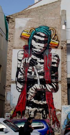 New Street Art Mural By Deih For Incubarte Urban Art Festival In Valencia, Spain. 5