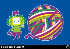 Hello Catamari! by Drew Wise - Shirt sold on June 20th at http://teefury.com - More by the artist at http://drewwise.tumblr.com/