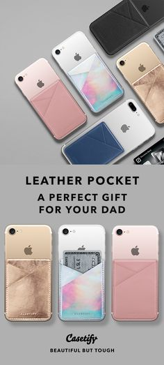 I have a hero, I call him Dad - Happy Father's Day | Leather Pocket: A Perfect Gift for your Dad.. For more Cases for your Father, shop them here ☝☝☝ BEAUTIFUL BUT TOUGH ✨ - My Love, Daddy, Minimalist, Leather, Personalized, Gift Idea
