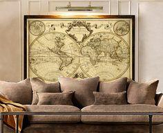 L ' Isle 1720 Old World Karte Historische Karte Antique Style