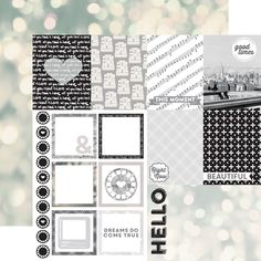 Echo Park - Capture Life Collection - Black and White - 12 x 12 Double Sided Paper - Good Times