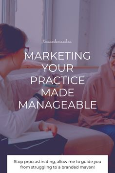 Until you can get super clear on who you're serving, your brand will not be clear. You need a niche in Private Practice! Download It's Nice to Niche, the free guide to learn more! | taraondemand.ca #therapistmarketing #privatepractice #mentalhealth Business Tips, Online Business, Marketing Guru, How To Stop Procrastinating, Private Practice, Confused, Get Started, Prompts, Therapy
