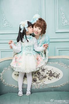 Lolita Mom and Her Lolita Daughter..❤..❤.❤..Full of Love.❤..❤..❤