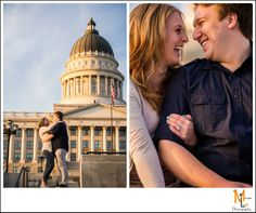 Utah State Capitol Engagement Session | Matt & Christina | Morgan Leigh Photography
