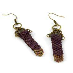 Two Toned Chevron Earrings | www.MegansBeadedDesigns.com #fashion