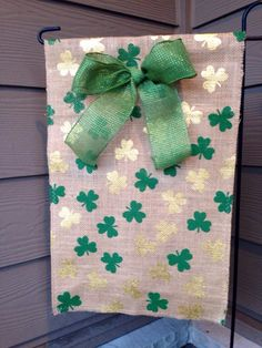 A personal favorite from my Etsy shop https://www.etsy.com/listing/264175241/st-patricks-day-burlap-garden-flag