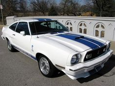 White 1976 Mustang Cobra II Hatchback