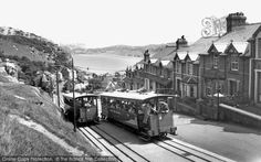The Great Orme Railway, Llandudno, 1960. This is Great Britain's only remaining cable-operated street tramway and one of few surviving in the world. It takes passengers from Llandudno Victoria Station to just below the summit of the Great Orme headland. #trams #trains #history #photography