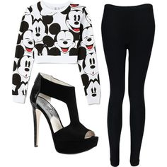A fashion look from December 2013 featuring Forever 21 tops, Boohoo leggings and Michael Kors sandals. Browse and shop related looks.