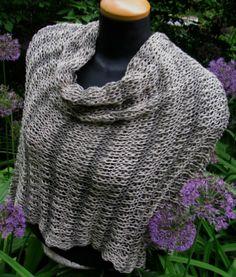Hand Knit Wrap Pima Cotton 'Summer in Vienna' by lizziemac7, $145.00