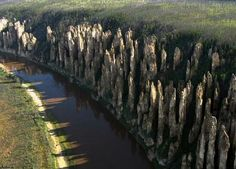 Lena's stone forest,  Russia.