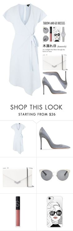 """easy outfitting: throw-and-go dresses"" by anabelisstyle ❤ liked on Polyvore featuring Topshop, Gianvito Rossi, Jimmy Choo, Christian Dior, NARS Cosmetics, Casetify and Rolex"