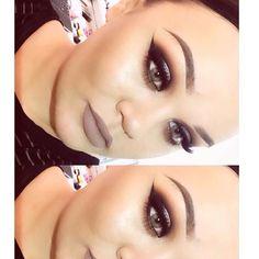 Fall look @makeupwithjah  BROWS: #Dipbrow in Medium Brown  EYES: Shadow Couture palette  #anastasiabeverlyhills #anastasiapalette