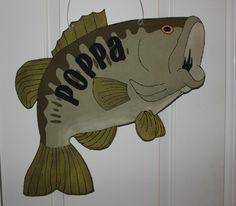 Personalized Fish Burlap Door Hanger by TrucksCreativeCrafts, $35.00