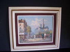Vintage Antique (?) framed Oil Painting CATHEDRAL signed  15 x 13 by LIZ404 on Etsy