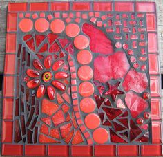 #red #mosaic