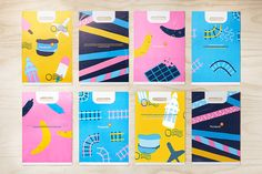 Packaging, bags and illustration by Bold for Swedish convenience store Pressbyrån