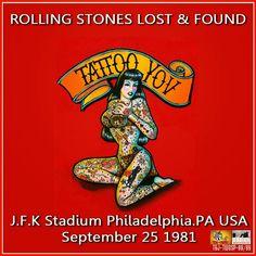World Of BOOTLEGS: BOOTLEG : The Rolling Stones - J.F.K. Stadium, Philadelphia, 25 September 1981 (CD & Covers)