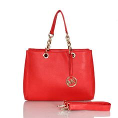 Michael Kors Cynthia Saffiano Large Red Satchels Outlet