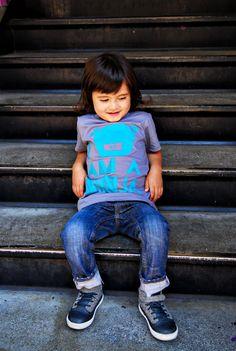 Kids Style i am a ninja tee. etsy seller steppie.