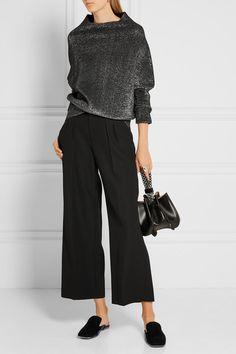 Jil Sander | Metallic wool-blend sweater | NET-A-PORTER.COM