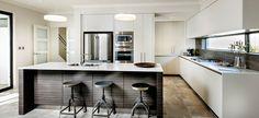 Opus Double Storey Display Home Kitchen - Soran Qadir - Wohnmöbel Diy Home Furniture, Modern Contemporary Homes, Two Storey House, Storey Homes, Display Homes, Tea Display, Kitchen Photos, Kitchen Ideas, New Home Builders