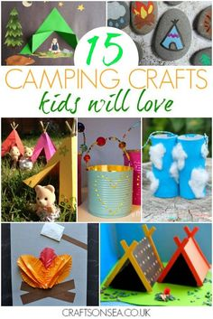 15 Fantastic Camping Crafts For Kids - Tents - Ideas of Tents - Love the great outdoors? Inspire your kids imagination with these fun camping crafts for kids easy ideas theyll adore including campfire crafts tents lanterns and more. Diy Camping, Camping Activities For Kids, Craft Activities, Preschool Crafts, Camping Gear, Camping Hacks, Camping Essentials, Outdoor Camping, Camping Checklist