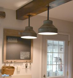 Makeover galvanized light fixtures all DIY
