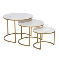 Gower Marble Nest Of Tables, Gold available online at Barker & Stonehouse. Browse our fabulous range today!