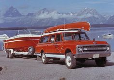 1969 Chevrolet Suburban with boat and canoe!