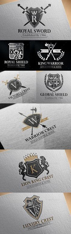 Luxurious Crest Logos Vol 14 — Vector EPS #calligraphy #heraldic crest • Available here → https://graphicriver.net/item/luxurious-crest-logos-vol-14/12611632?ref=pxcr