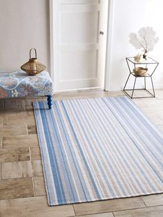 Company C Cirrus Stripe 100 Polyester Indoor Outdoor Rug