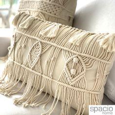 Macrame, Throw Pillows, Blanket, Home Decor, Handmade Cushions, Macrame Art, Sky, Appliques, Slipcovers