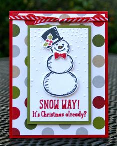 Stampin' Up! Snow Place Online Stamp Class by skdeleeuw - Cards and Paper Crafts at Splitcoaststampers